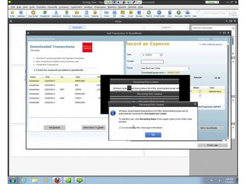 Webinar - Downloading Transactions into QuickBooks - 2013-05-09