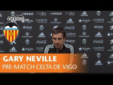 Gary Neville's press conference ahead of game against Celta de Vigo