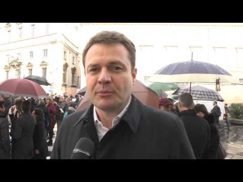 Pensioni - Filippo Busin protesta davanti alla consulta