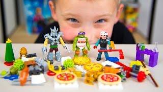 HUGE Teenage Mutant Ninja Turtles Advent Calendar Surprise Toys TMNT Christmas Toys Kinder Playtime