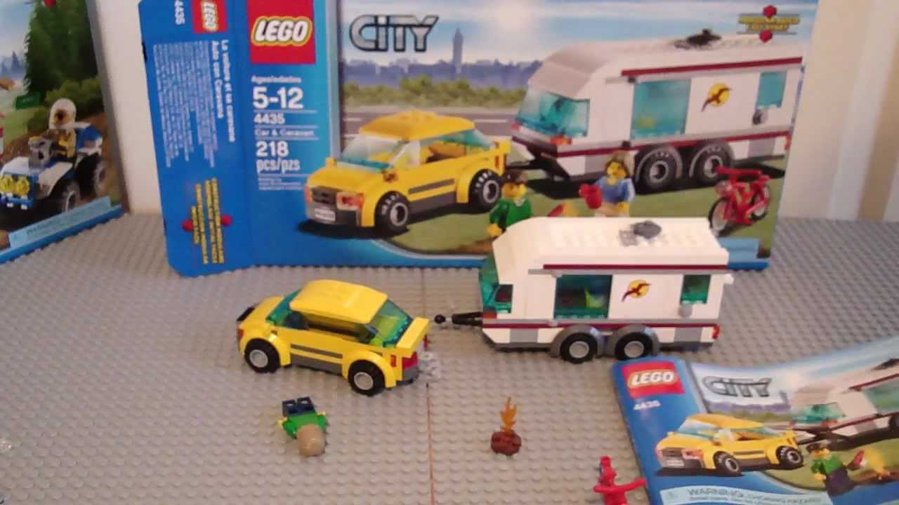Lego City Car And Caravan Review Set 4435 Youtube