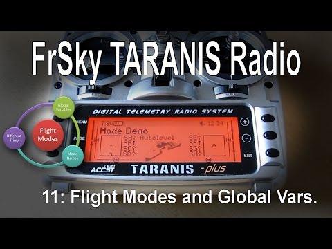 (11/12) FrSky TARANIS Radio – Using Flight Modes and Global Variables (GV/GVR)