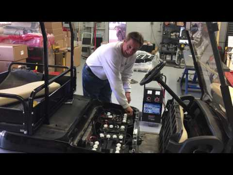 recharging dead golf cart batteries