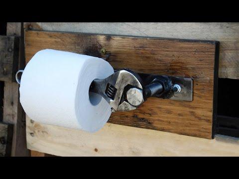 Как сделать держатель для туалетной бумаги своими