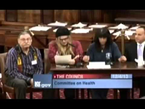 NYC Council Hearing Dec. 4, 2013 - Electronic Cigarettes