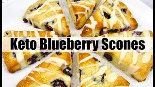 Keto Blueberry Lemon Scones - Gluten-Free