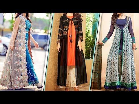 Kurti With Long Shrug Dress | Latest Long Shrug Design | Latest Net Embroidery Shrug||Shrug Design