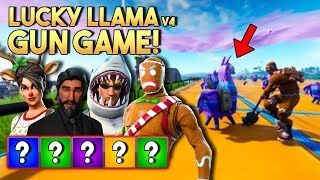 LUCKY LLAMA GUN GAME v4! - Fortnite Creative met Wouter, Eva & Jacco (Nederlands)