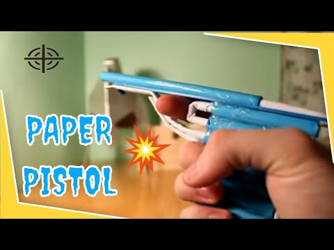 How to Make a paper gun that shoots-With Trigger- HOW TO MAKE GUN IN MINUTES