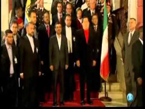 Hugo Chávez Recibe en Caracas a Ahmadinejad