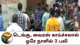 டெங்கு, வைரஸ் காய்ச்சலால் ஒரே நாளில் 3 பலி |  3 people death for dengue and fever