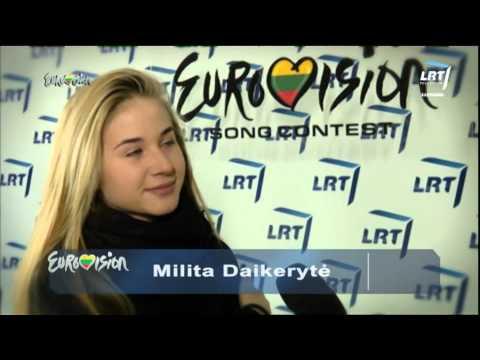 """Jauniausia dalyvė Milita Daikerytė pasitraukė iš """"Eurovizijos"""" atrankos (2015)"""