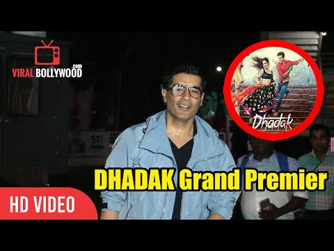 Fashion Designer Manish Malhotra at DHADAK Movie GRAND Screening | Ishaan Khattar, Janhvi Kapoor