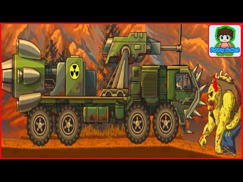 earn to die - игра как мультик - для детей - красная машинка - от Фаника 8