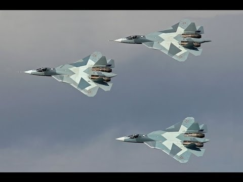 New Russian Fifth-Generation Stealth Fighter Sukhoi PAK FA T-50 Novo Caça Stealth de Quinta Geração Music Videos