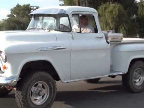 Daves 57 Chevy 4x4. Worlds shortest truck interview.