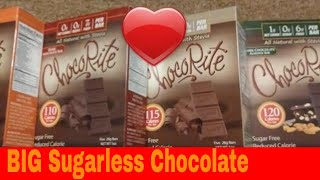 Unbox & Review of ChocoRite Sugarless Low-carb Chocolate Bar and Protein Bars With Sugar Alternative