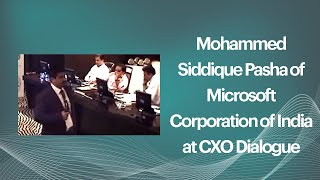 Mohammed Siddique Pasha of Microsoft