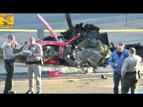 Paul Walker Dies car crash - Footage of Paul Horrible car Accident [Porsche crash] 11/30/2013