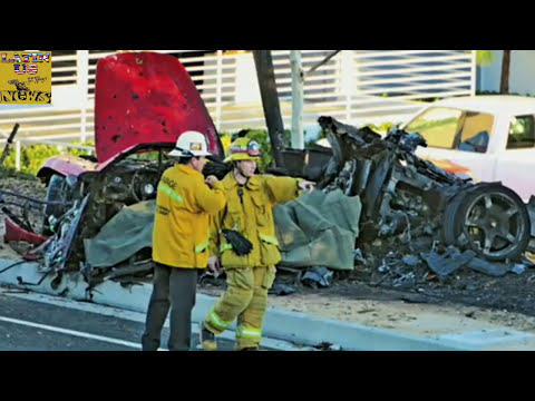 Paul Walker Dies car crash - Footage of Paul Horrible car Accident [Porsche crash] 11/30/2013