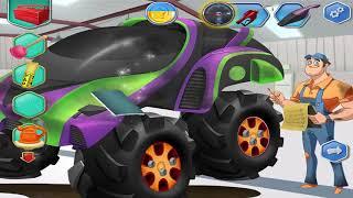 Game Hay Vui Nhộn Cho Bé – Bé Làm Thợ Sữa Ô Tô – Monster Truck Edition  # 358