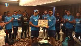 MS Dhoni after first t20 50 half century team say thanks