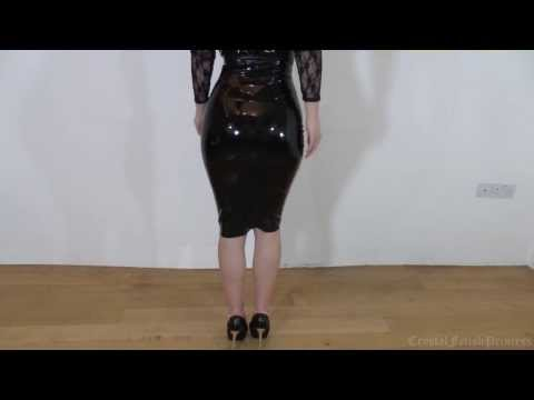 Sexy Latex Skirt and High Heels Fetish