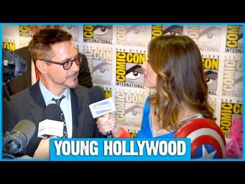 AVENGERS Robert Downey Jr, Chris Evans, & More Give Superhero Tips!