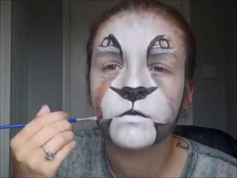 Realistic Lion Face Paint Lion Face Paint