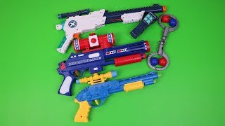 Realistic Box of Toys!Colored Guns  Videos for Kids-Change Colors