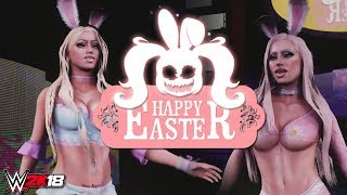 WWE 2K18 - Easter Bunny Bra & Panties Match