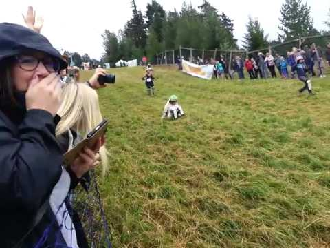 Women's Red Heat at 2015 Canadian Cheese Rolling Festival in Whistler