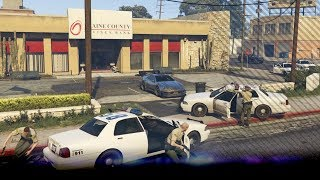 Blaine County bank overval! We zijn omsingeld door politie! - ZVM | GTA 5 Mods | Noway