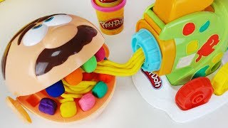 Play-doh Dentista and play doh spaghetti maker cooking toys baby Doll play 플레이도우 스파게티 만들기 장난감 - 토이몽