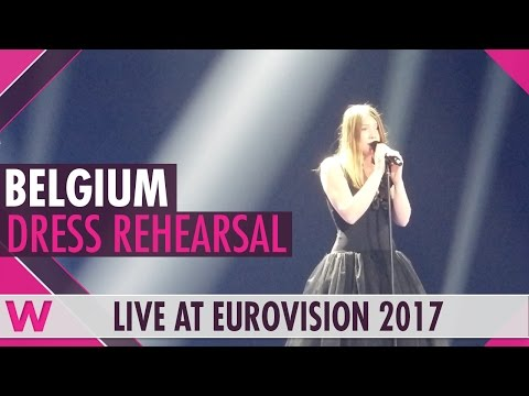 "Belgium: Blanche ""City Lights� semi-final 1 dress rehearsal @ Eurovision 2017"