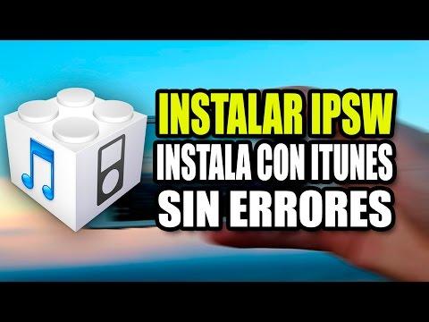 Como instalar un IPSW / Software descargado de internet   instalar ipsw
