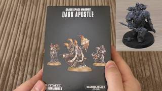 Chaos Space Marines - Dark Apostle - Unboxing (WH40K)