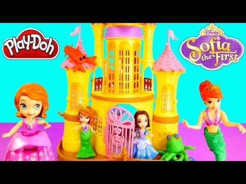 Ariel Little Mermaid Sofia The First Floating Sea Palace Play Doh Princess Disney Toys