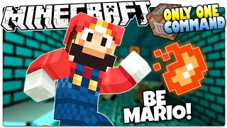 Minecraft | SUPER MARIO! | Fire Flowers, Stars, Mushrooms & More! (Minecraft Custom Command)