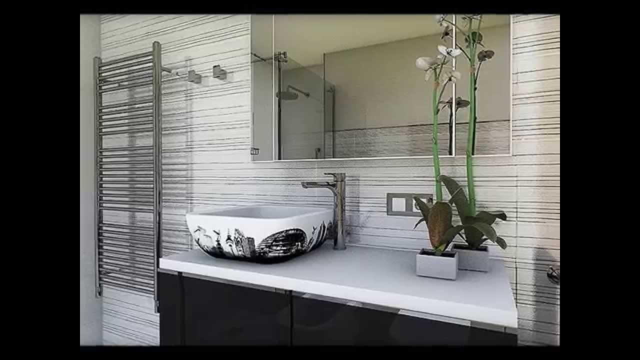 Dise o interior cuartos de ba o con efectos metalizados - Diseno de cuartos de bano con ducha ...