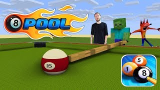 Monster School : 8 BALL POOL CHALLENGE - Minecraft Animation