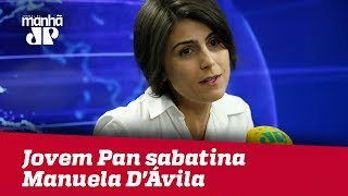 Eleições 2018 - Jovem Pan sabatina Manuela D'Ávila