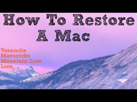 How To Restore A Mac   Yosemite (Easy)