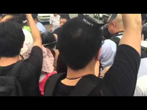 MH370: Family members of those on board protest outside the Malaysian Embassy - part 1