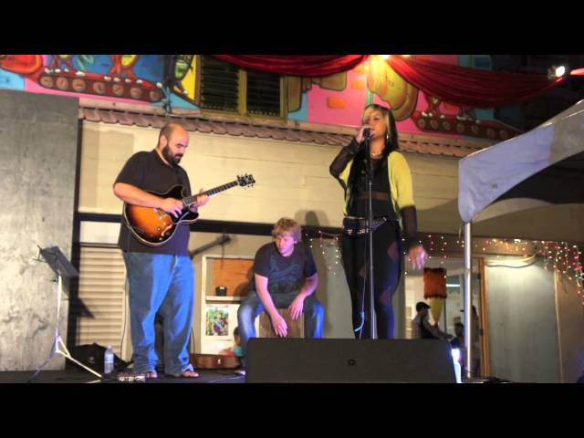Camille Velasco performing at Honolulu Night Market