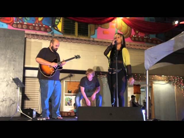 Camille Velasco performing at Honolulu Night Market