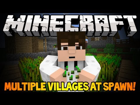 Minecraft 1.6.2 Seed Spotlight - MULTIPLE VILLAGES AT SPAWN!