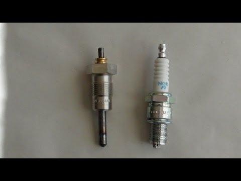 Glow plug vs  spark plug explained