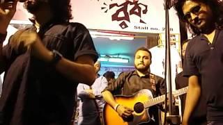 Rupam Islam & Iman Sen at Bangla Rock Magazine Stall