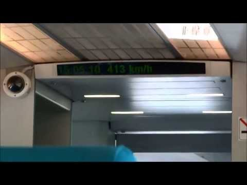 Maglev Transrapid Shanghai Full Speed Pudong Intl. Airport to Longyang Road FullHD